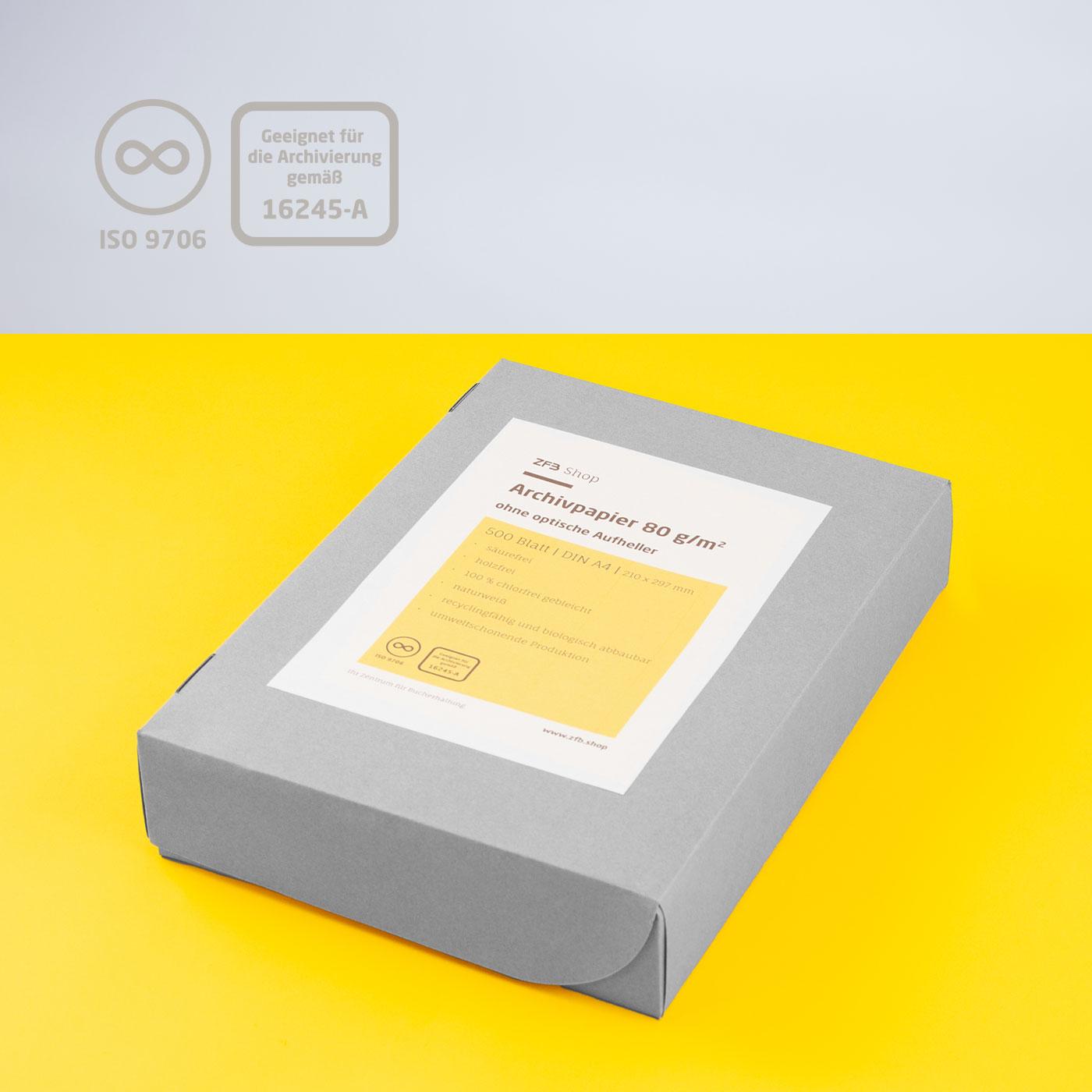 Archivpapier ohne optische Aufheller - 80 g/m²