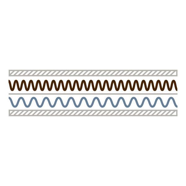Bogenware Wellpappe - FE-Welle 2.5 mm