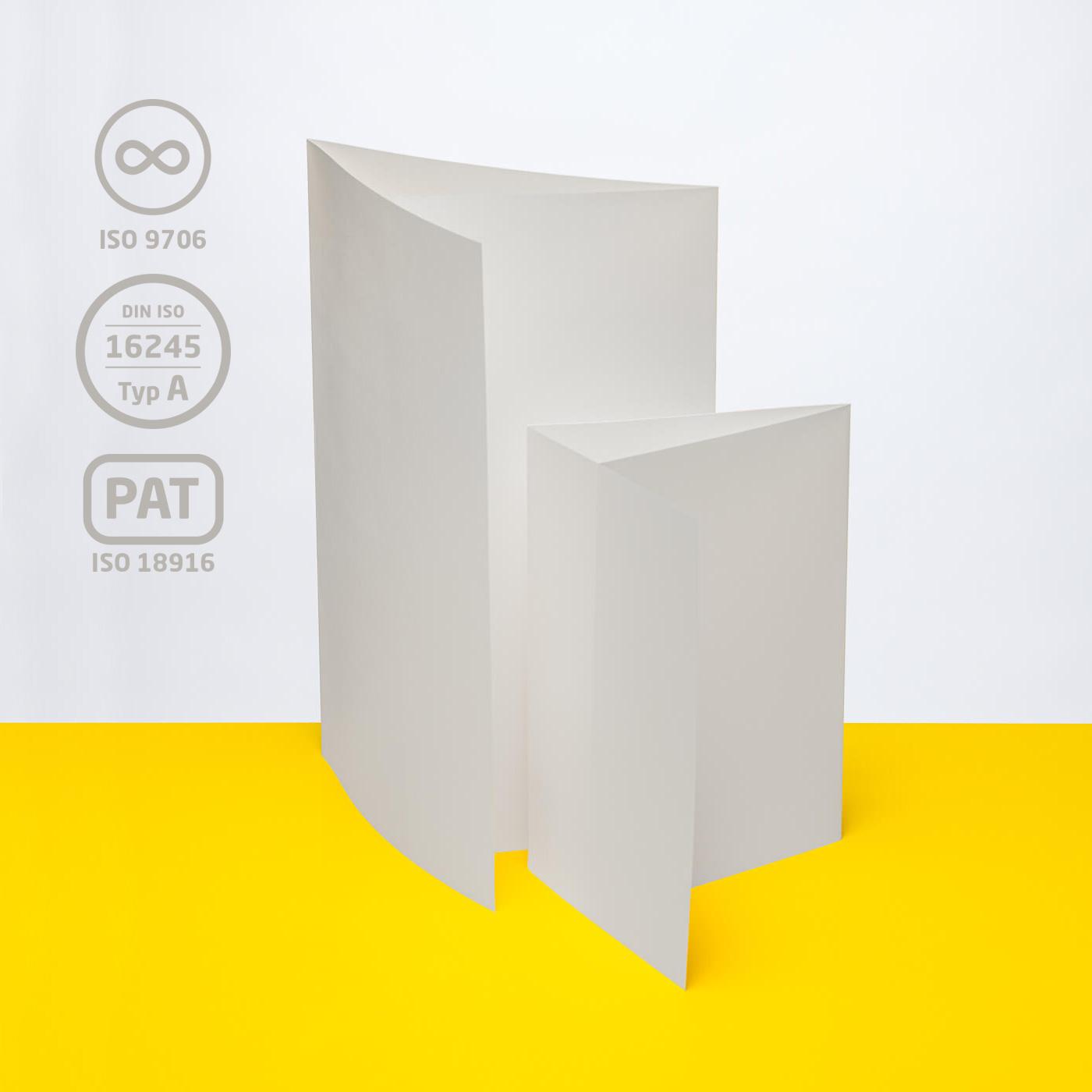 Einlegemappe mit Klappe, 120 g/m²