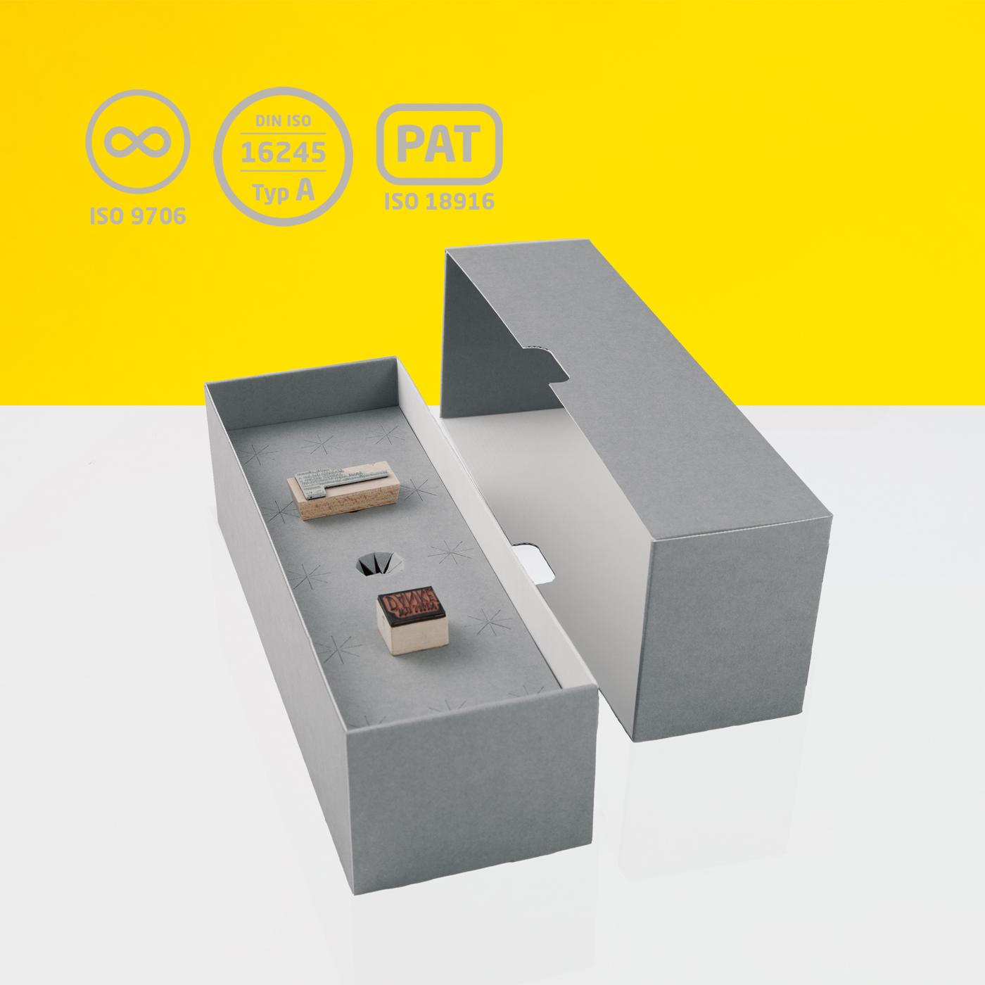 Stempelarchivbox für Stempel und Typare