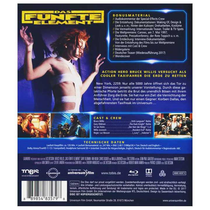 Das fünfte Element (Blu-ray Mastered in 4K)